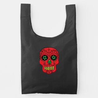 Xmas Sugar Skulls Reusable Bag