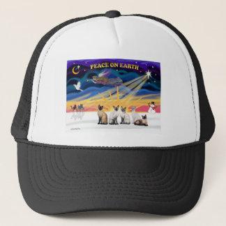 Xmas Sunrise - 5 Siamese cats Trucker Hat