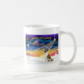 Xmas Sunrise - Akita (brown and white) Coffee Mug