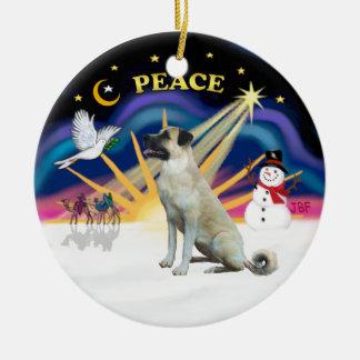 Xmas Sunrise - Anatolian Shepherd - black mask Christmas Ornaments