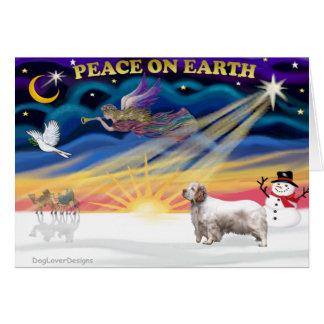 Xmas Sunrise - Clumber Spaniel Card
