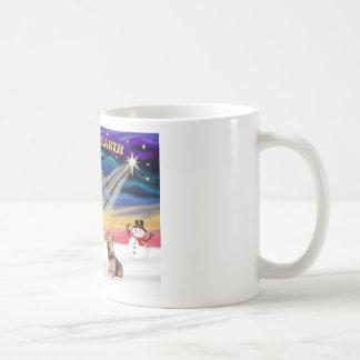 Xmas Sunrise - Norwich Terrier Coffee Mug