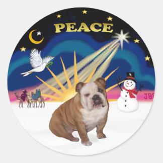 Xmas Sunrise (R) - English Bulldog 1 Sticker