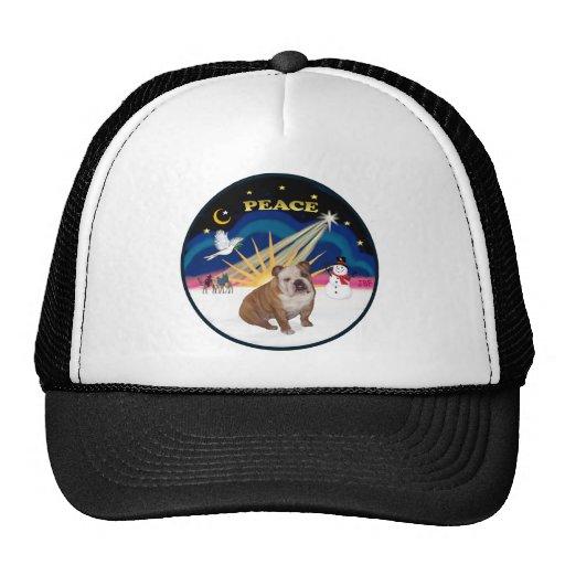 Xmas Sunrise (R) - English Bulldog 1 Trucker Hat