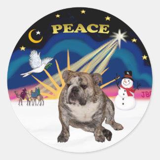 Xmas Sunrise (R) - English Bulldog 2 Stickers