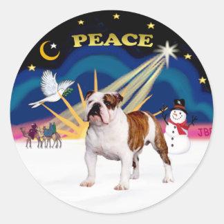 Xmas Sunrise (R) - English Bulldog 5 Stickers