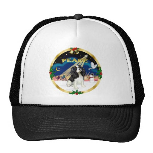 Xmas Sunrise - Tri Color Cavalier King Charles Trucker Hat