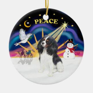 Xmas Sunrise - Tri Color Cavalier Christmas Ornaments