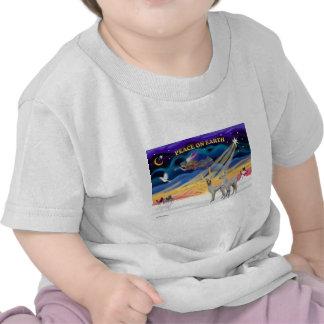Xmas Sunrise - Two Baby Llamas Tee Shirts