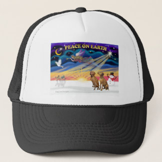 Xmas Sunrise - Two Vizslas Trucker Hat