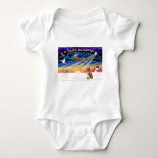 Xmas Sunrise - Vizsla 1 Baby Bodysuit