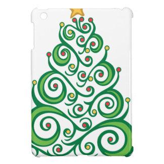Xmas Swirl Tree Cover For The iPad Mini