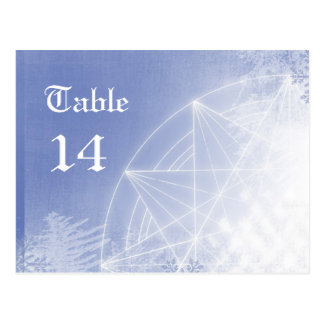 Xmas table numbers postcard