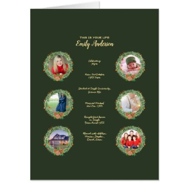 XMAS THIS IS YOUR LIFE- ADD PHOTOS   MILESTONES CARD