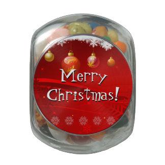 Xmas Treats Glass Candy Jars