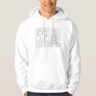 xmas tree and baubles hoodie
