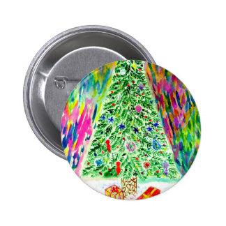 Xmas Tree Art Button