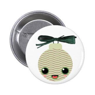 xmas tree ball kawaii pinback buttons