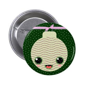 xmas tree ball snow pinback buttons