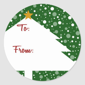 Xmas Tree Gift Sticker