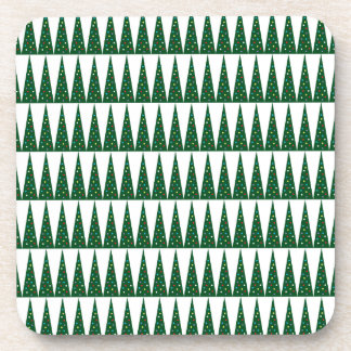 Xmas Tree | Green Colorful Pattern Design Drink Coaster