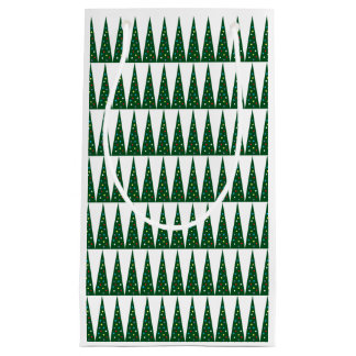 Xmas Tree | Green Colorful Pattern Design Small Gift Bag