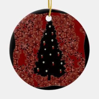"""Xmas Tree Lights""Tree Ornament.* Ceramic Ornament"