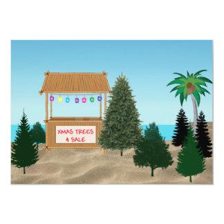 Xmas Tree Lot at the Beach Invitation