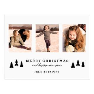 XMAS TREE MERRY CHRISTMAS PHOTO POSTCARD