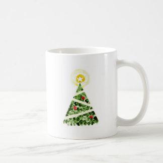 Xmas tree painted with fingers coffee mug
