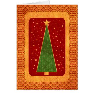 xmas tree - vibrant card