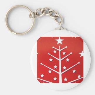 Xmas Tree white Keychain