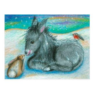 Xmas Trio in the snow Postcard