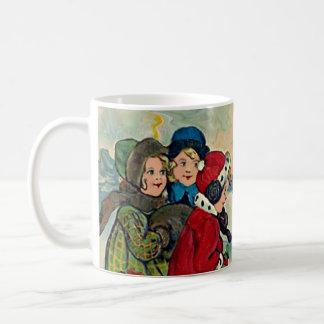 xmas vintage children coffee mug