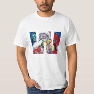 XMAS W LETTER /SANTA  CLAUS WITH VIOLIN MONOGRAM T-Shirt