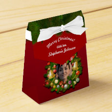Xmas Wreath Customized With Your Own Pictures Favor Box