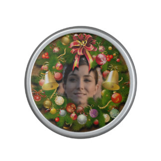 Xmas Wreath Customized With Your Picture Bluetooth Speaker