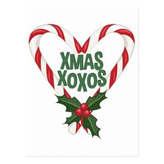 Xmas XOXOs Postcard