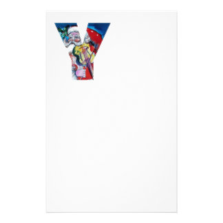 XMAS Y LETTER /SANTA  CLAUS WITH VIOLIN MONOGRAM STATIONERY