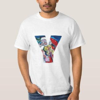 XMAS Y LETTER /SANTA  CLAUS WITH VIOLIN MONOGRAM T-Shirt