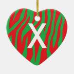 Xmas Zebra Christmas Ornaments