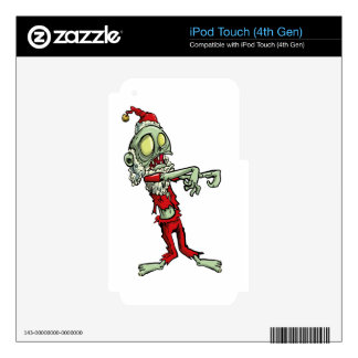 xmas zombie santa claus iPod touch 4G skins