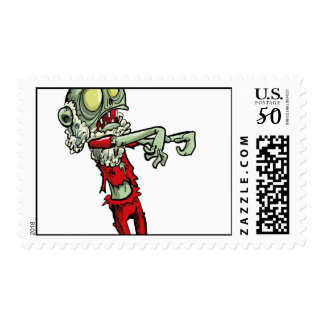 xmas zombie santa claus postage