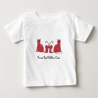 XmasRedRibbonCats, Xmas Red Ribbon Cats Baby T-Shirt