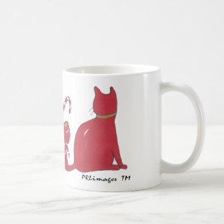 XmasRedRibbonCats, Xmas Ribbon Cats Coffee Mug