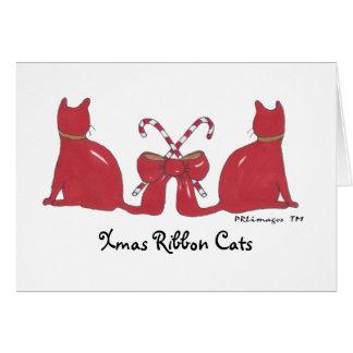 XmasRibbonCats, Xmas Ribbon Cats Card