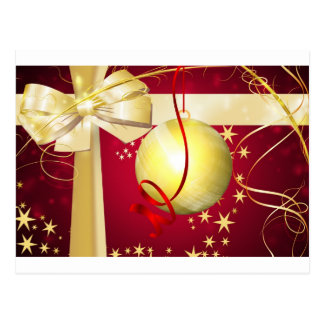 xmass bow post card