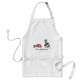 XmasStockingCats, Xmas Stocking Cats Adult Apron