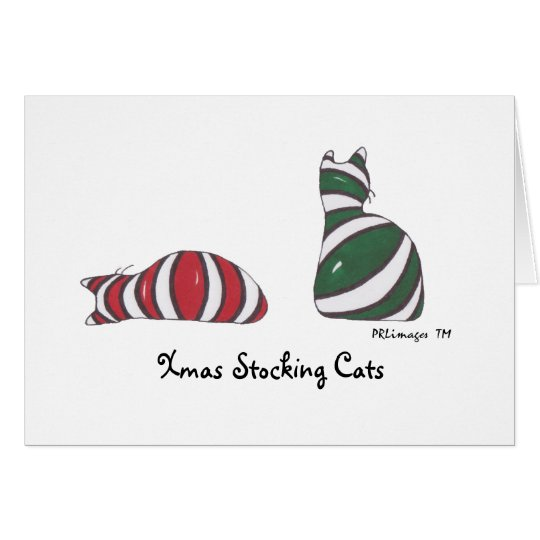XmasStockingCats, Xmas Stocking Cats Card