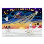 XmasSunrise-Bull Terrier 4 Card